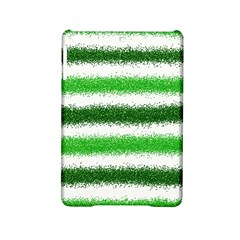 Metallic Green Glitter Stripes iPad Mini 2 Hardshell Cases