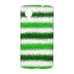 Metallic Green Glitter Stripes LG Nexus 5