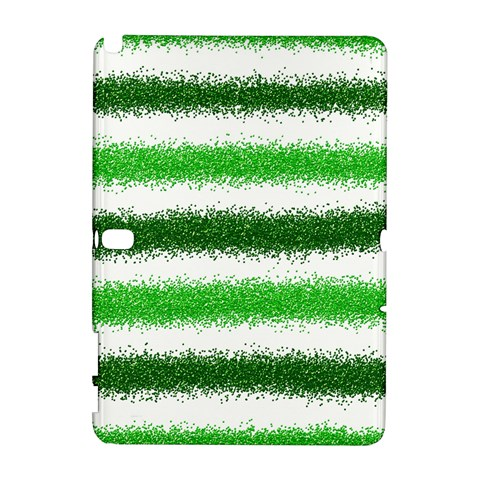 Metallic Green Glitter Stripes Samsung Galaxy Note 10.1 (P600) Hardshell Case
