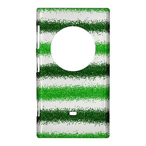 Metallic Green Glitter Stripes Nokia Lumia 1020