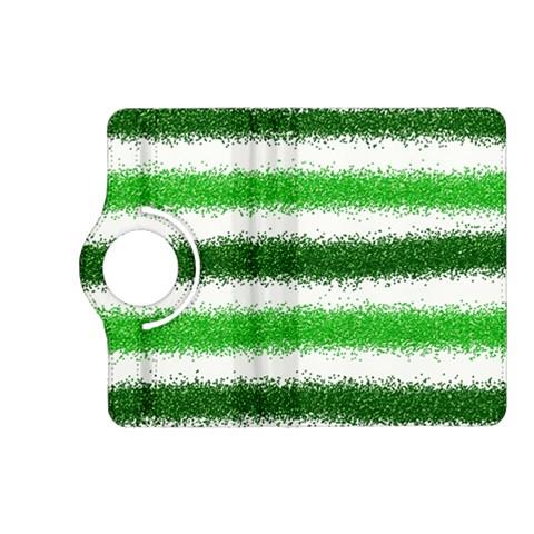 Metallic Green Glitter Stripes Kindle Fire HD (2013) Flip 360 Case