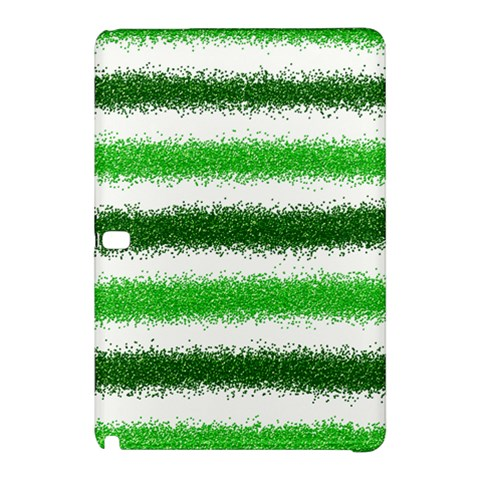 Metallic Green Glitter Stripes Samsung Galaxy Tab Pro 12.2 Hardshell Case