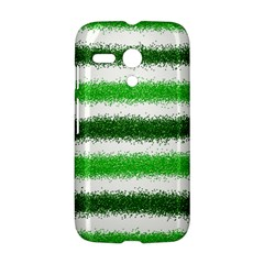 Metallic Green Glitter Stripes Motorola Moto G