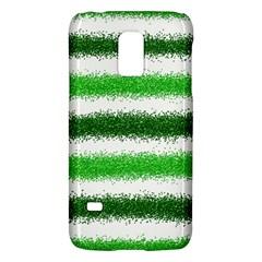 Metallic Green Glitter Stripes Galaxy S5 Mini