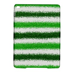 Metallic Green Glitter Stripes iPad Air 2 Hardshell Cases