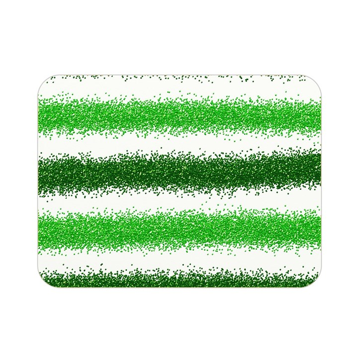 Metallic Green Glitter Stripes Double Sided Flano Blanket (Mini)