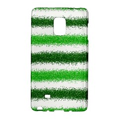 Metallic Green Glitter Stripes Galaxy Note Edge