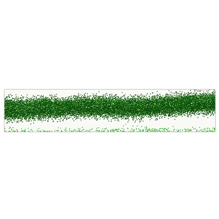 Metallic Green Glitter Stripes Flano Scarf (Small)