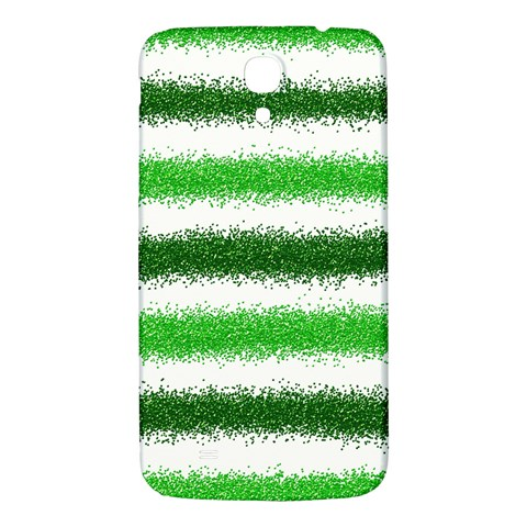Metallic Green Glitter Stripes Samsung Galaxy Mega I9200 Hardshell Back Case