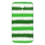Metallic Green Glitter Stripes Samsung Galaxy Mega I9200 Hardshell Back Case Front