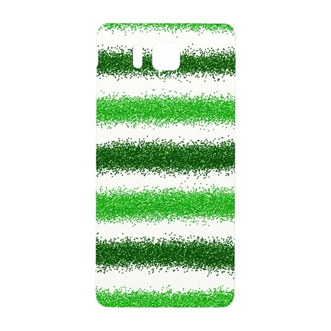Metallic Green Glitter Stripes Samsung Galaxy Alpha Hardshell Back Case