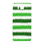 Metallic Green Glitter Stripes Samsung Galaxy Alpha Hardshell Back Case Front