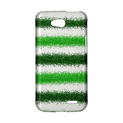 Metallic Green Glitter Stripes LG L90 D410