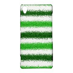 Metallic Green Glitter Stripes Sony Xperia Z3