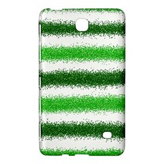 Metallic Green Glitter Stripes Samsung Galaxy Tab 4 (8 ) Hardshell Case