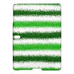 Metallic Green Glitter Stripes Samsung Galaxy Tab S (10.5 ) Hardshell Case