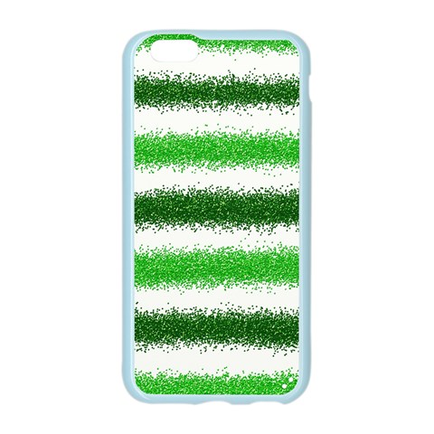 Metallic Green Glitter Stripes Apple Seamless iPhone 6/6S Case (Color)