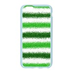 Metallic Green Glitter Stripes Apple Seamless iPhone 6/6S Case (Color) Front
