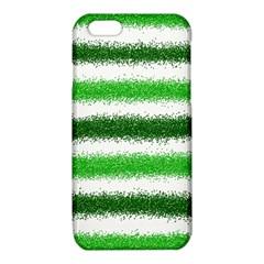 Metallic Green Glitter Stripes iPhone 6/6S TPU Case