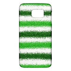 Metallic Green Glitter Stripes Galaxy S6