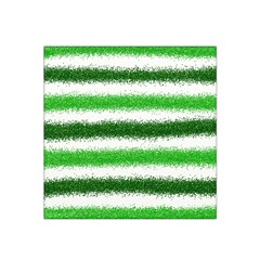 Metallic Green Glitter Stripes Satin Bandana Scarf