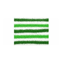 Metallic Green Glitter Stripes Satin Wrap