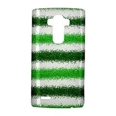 Metallic Green Glitter Stripes LG G4 Hardshell Case