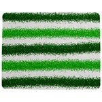 Metallic Green Glitter Stripes Jigsaw Puzzle Photo Stand (Rectangular) Front