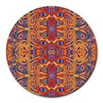 Oriental Watercolor Ornaments Kaleidoscope Mosaic Round Mousepads Front