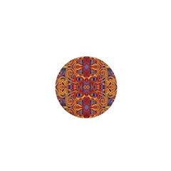 Oriental Watercolor Ornaments Kaleidoscope Mosaic 1  Mini Buttons