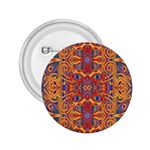Oriental Watercolor Ornaments Kaleidoscope Mosaic 2.25  Buttons Front