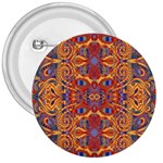 Oriental Watercolor Ornaments Kaleidoscope Mosaic 3  Buttons Front