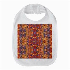 Oriental Watercolor Ornaments Kaleidoscope Mosaic Bib