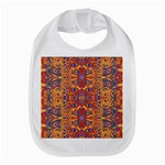 Oriental Watercolor Ornaments Kaleidoscope Mosaic Bib Front