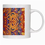 Oriental Watercolor Ornaments Kaleidoscope Mosaic White Mugs Right
