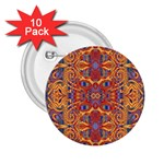 Oriental Watercolor Ornaments Kaleidoscope Mosaic 2.25  Buttons (10 pack)  Front
