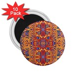 Oriental Watercolor Ornaments Kaleidoscope Mosaic 2.25  Magnets (10 pack)  Front
