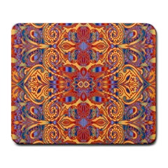 Oriental Watercolor Ornaments Kaleidoscope Mosaic Large Mousepads