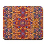 Oriental Watercolor Ornaments Kaleidoscope Mosaic Large Mousepads Front