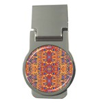 Oriental Watercolor Ornaments Kaleidoscope Mosaic Money Clips (Round)  Front