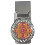 Oriental Watercolor Ornaments Kaleidoscope Mosaic Money Clips (CZ)  Front