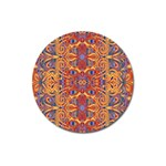 Oriental Watercolor Ornaments Kaleidoscope Mosaic Magnet 3  (Round) Front