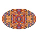 Oriental Watercolor Ornaments Kaleidoscope Mosaic Oval Magnet Front