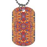 Oriental Watercolor Ornaments Kaleidoscope Mosaic Dog Tag (One Side) Front