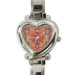 Oriental Watercolor Ornaments Kaleidoscope Mosaic Heart Italian Charm Watch Front