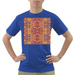Oriental Watercolor Ornaments Kaleidoscope Mosaic Dark T Shirt