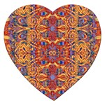 Oriental Watercolor Ornaments Kaleidoscope Mosaic Jigsaw Puzzle (Heart) Front