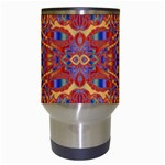 Oriental Watercolor Ornaments Kaleidoscope Mosaic Travel Mugs (White) Center