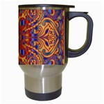 Oriental Watercolor Ornaments Kaleidoscope Mosaic Travel Mugs (White) Right