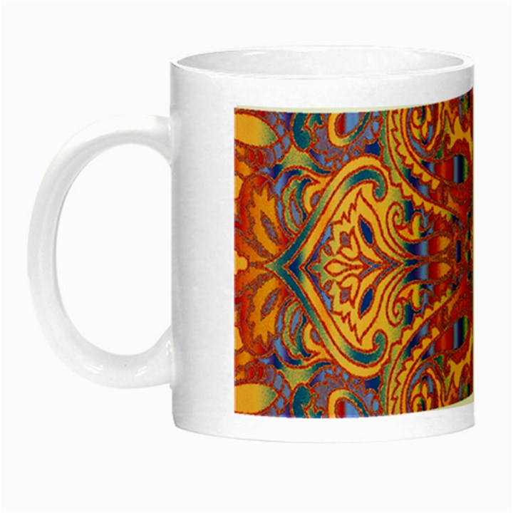 Oriental Watercolor Ornaments Kaleidoscope Mosaic Night Luminous Mugs